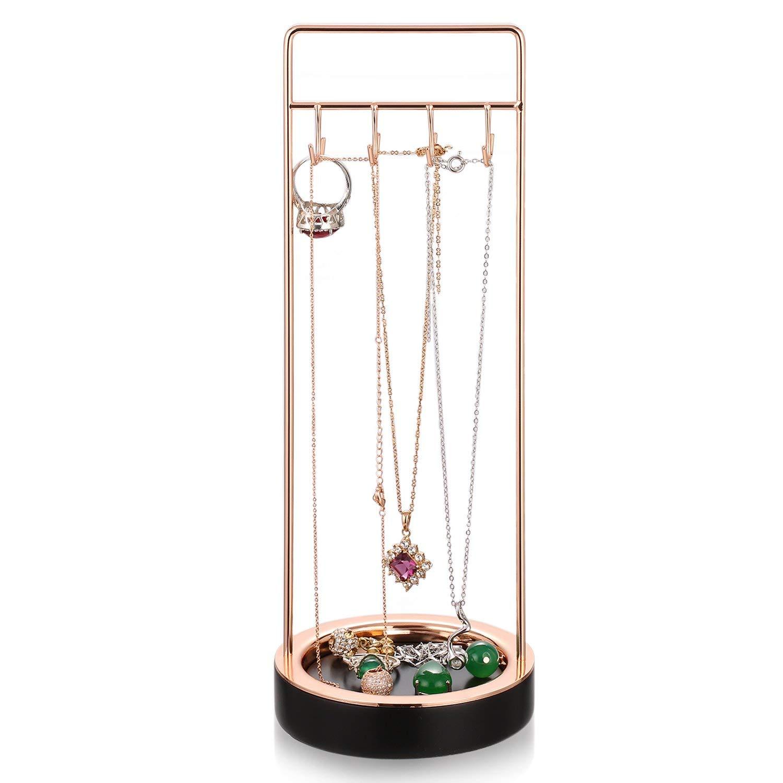 Pulseras ROSA/&ROSE Soporte de Metal para Joyas Soporte de Exhibici/¨/®n de Pendientes Organizador de Joyas para Collares