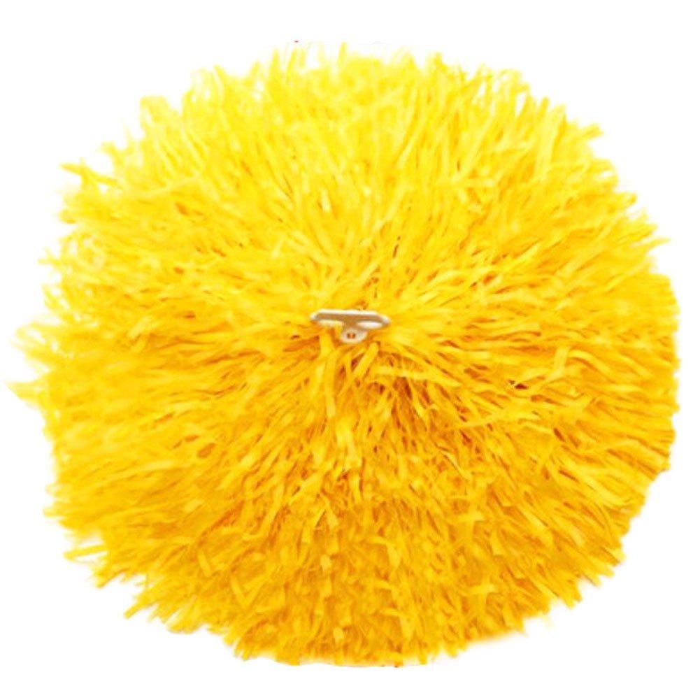 2 of Yellow Team Sports Cheerleading Poms Match Pom Plastic Ring George Jimmy