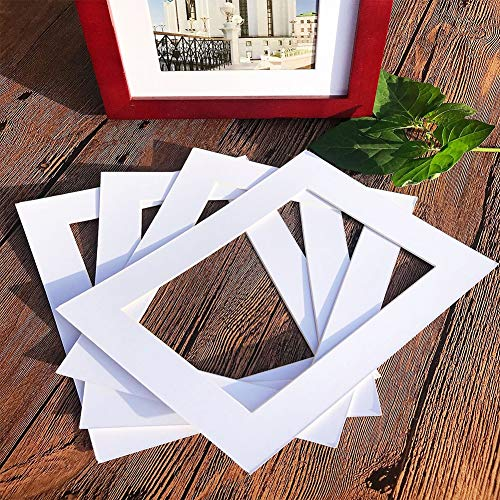 Glass figurines Picture Frame - Wall Decor 5PCS/Set Inserts Bevel Cut White Square Shape Decoration Multi-Sized Photo Paperboard Craft Paper DIY Photo Frame