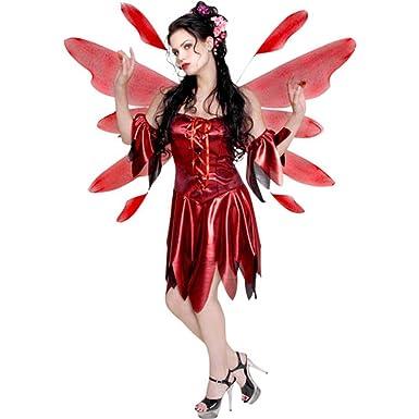 c057390ae61 Amazon.com: Women's Red Nymph Fairy Costume (Sz: Medium 10-12): Clothing