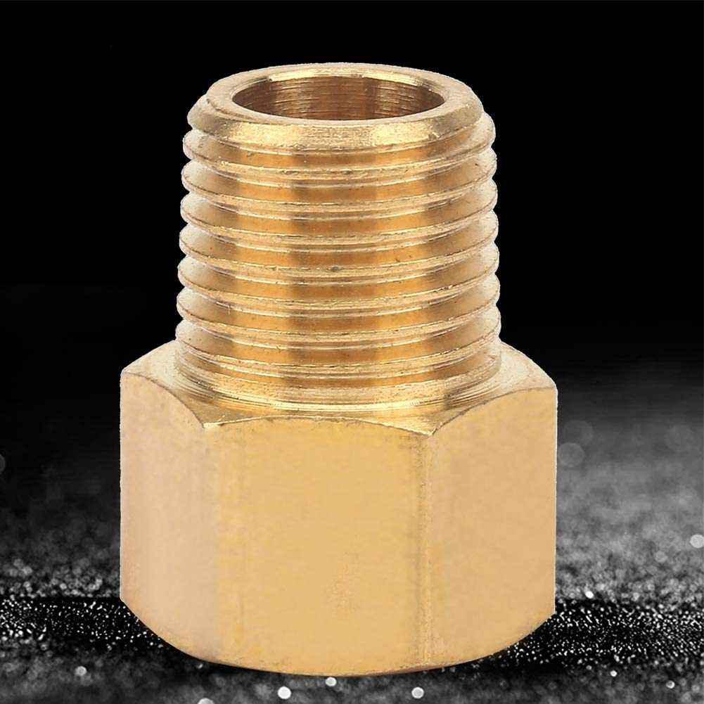 1//4 NPT Brass Pipe Fitting,Pressure Gauge Adapter Pipe Fitting Adapter for Pressure Gauge BSPT to NPT Adapter Brass Pipe Fittings 1//4 BSPT Male to 1//2,1//4,3//8 NPT Female