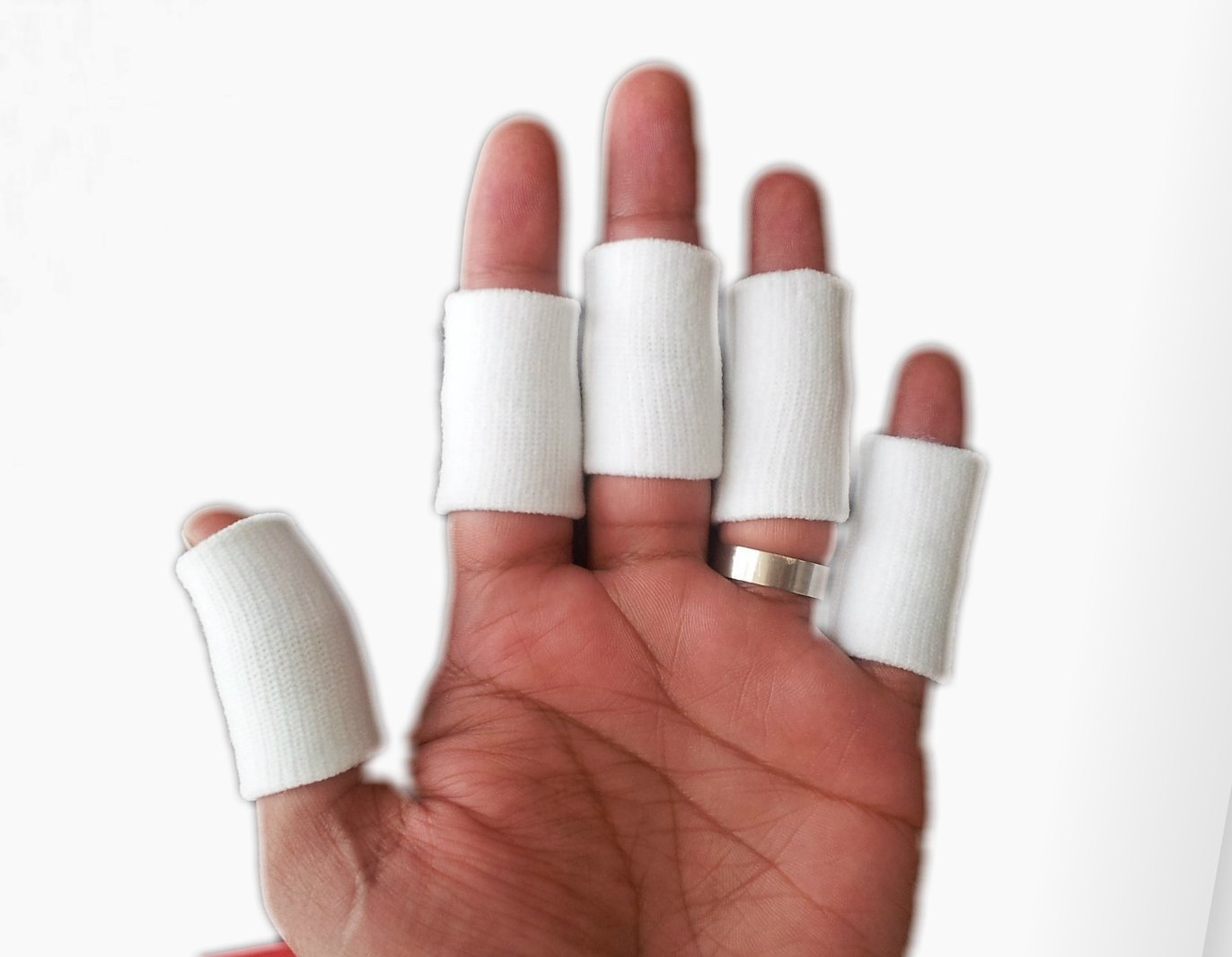 YPHONE Compressed Flexible Finger Sleeves Assistance with Outdoor Sports and Arthritis, 10 Piece