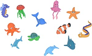 Wild Republic Ocean Babies Figurines Tube, Octopus, Shark, Dolphin, Sea Turtle, Sea Horse, Hammerhead, Clown Fish, EEL, Whale, Star Fish, Jelly Fish