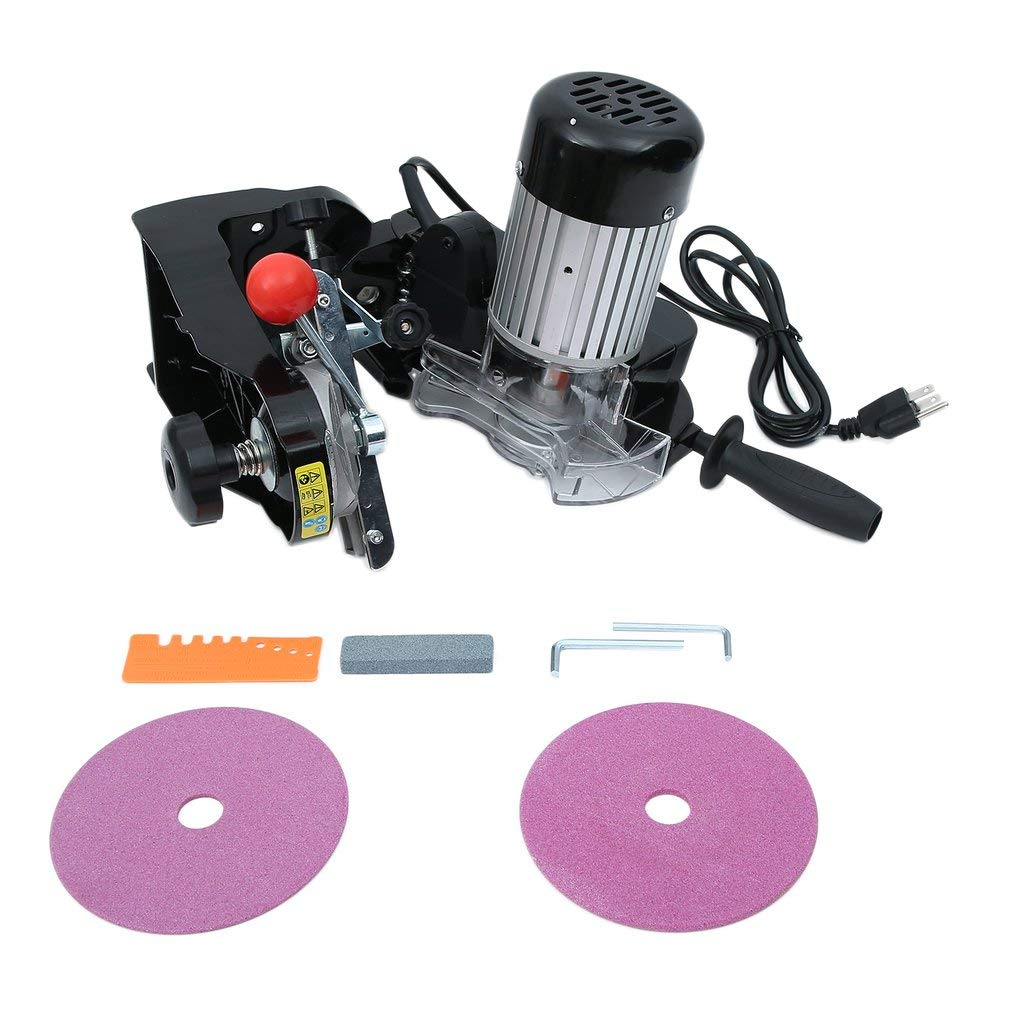 Blackpoolfa Electric Chainsaw Sharpener Kit, ES009 Powerful 230W Saw Chain Grinder Sharpener - Comes with 2 Grinding Wheels and Tools