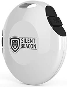 Silent Beacon - Wearable BLUETOOTH Panic Button Safety Device: App-Enabled GPS Location Tracker & 2-Way Phone Calls | Speaker & Microphone |Sends Custom Alerts | Rechargeable USB, Key Finder & NO fees