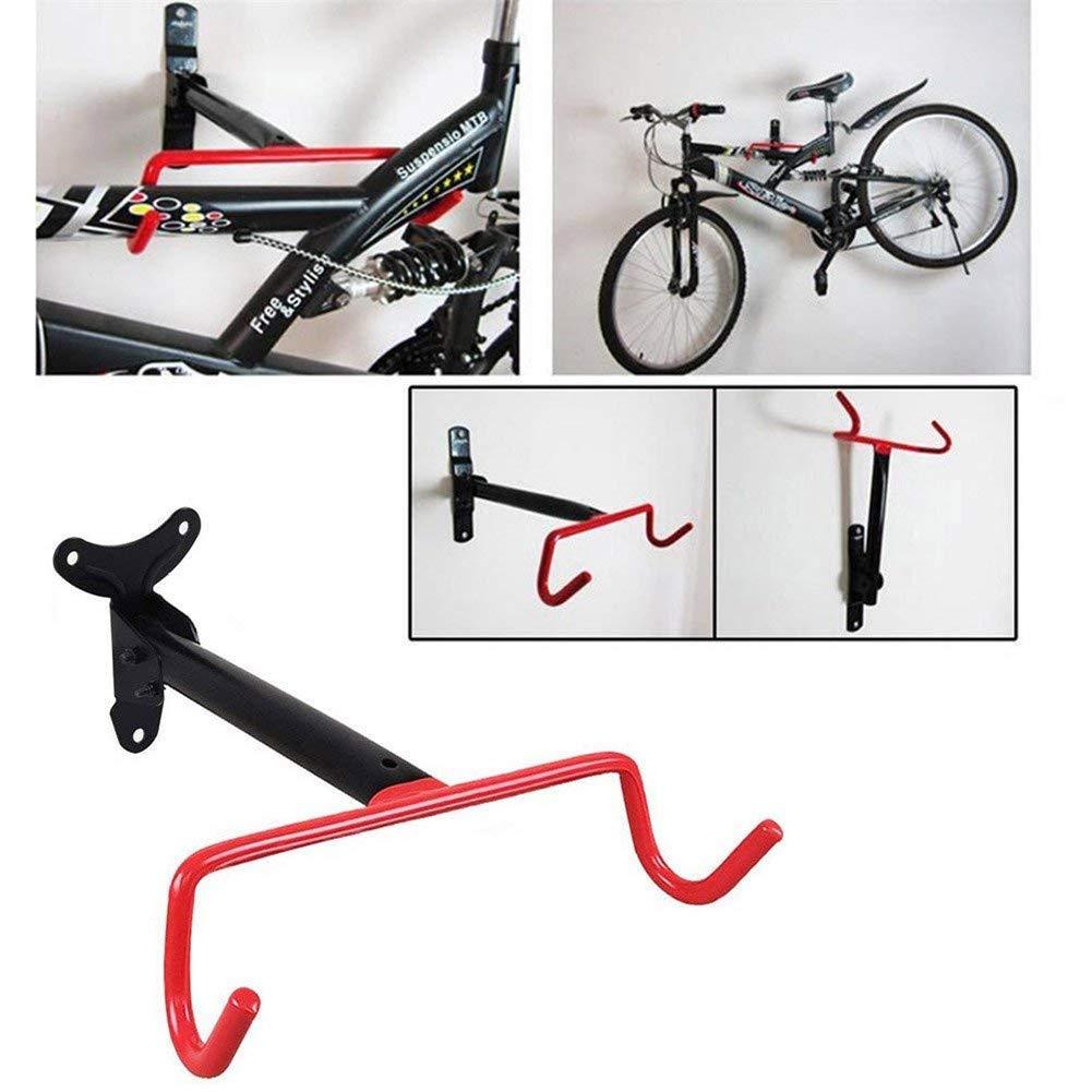 VAlink Dual Hook Bicycle Wall Storage Rack, Folding Bike Cycle Steel Storage Rack, Bicycle Rack Holders with Fitting Screws, Bicycle Storage Hook for Outdoor Supplies by VAlink (Image #4)