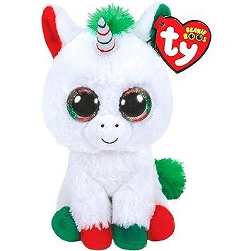 Amazon.com  Candy Cane Beanie Boo Unicorn Plush 3in x 6in Plush Toy ... 3d099a2e5e65
