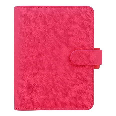 Filofax 2019 Pocket Organizer, Saffiano Fluoro Pink, 4.75 x 3.25 inches (C028752-19)