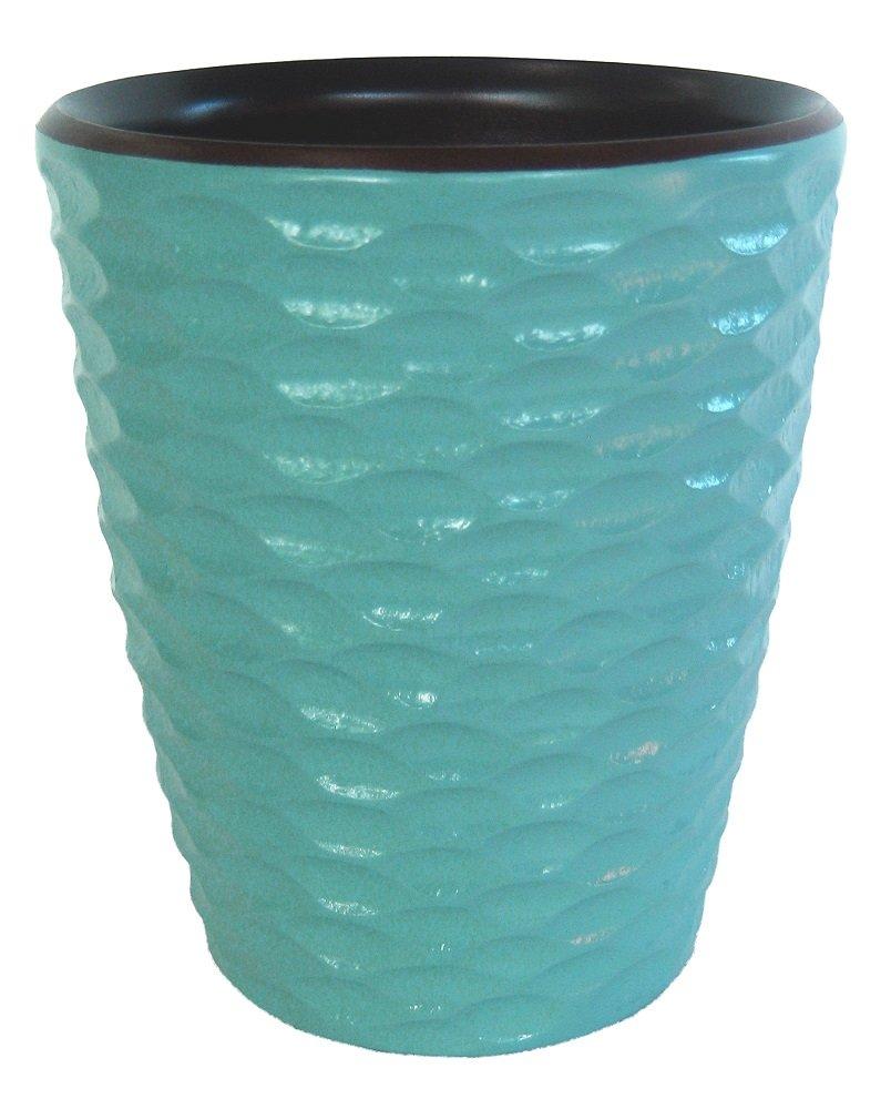 Enrico 3140MH3080 Mango Wood Honeycomb Utensil Vase, Turquoise