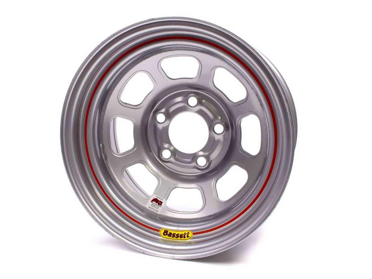 BASSETT D-Hole 15x8'' 5x5.00 Silver Wheel P/N 58D53IS