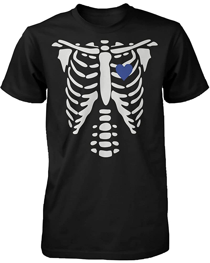 Amazon.com: Skeleton X-Ray Hearts Matching T-Shirts for Couples - Halloween Horror Shirts: Clothing