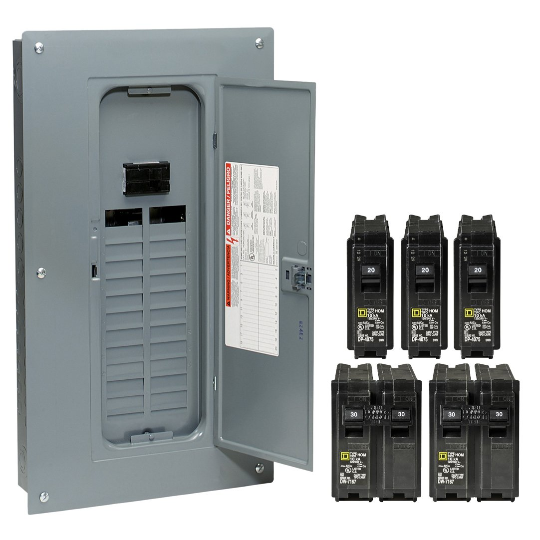 Square D by Schneider Electric HOM24M100VP Homeline 100 Amp 24-Space ...