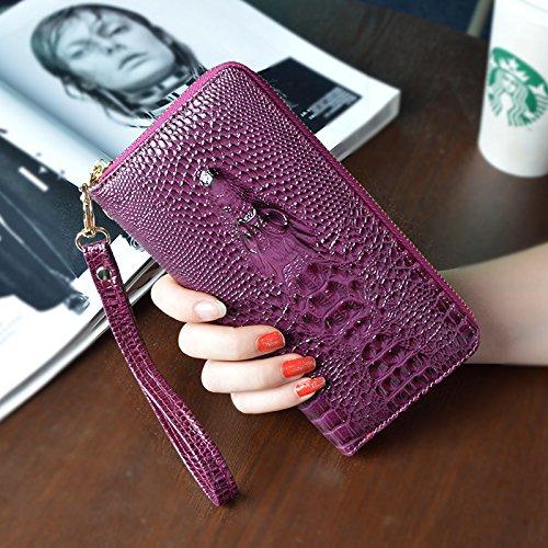 LLZZPQB Brieftasche/Handtasche Halter Brieftasche Frau Lange Reißverschluss Brieftasche Clip Portemonnaie Tasche/Geburtstag/Geschenk/Valentine/Couple Couple A Purple