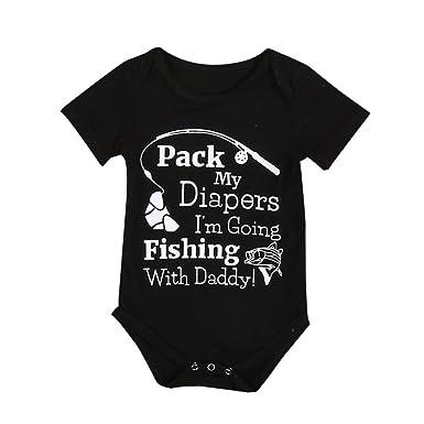 bdd60ea84a5 Lanhui Newborn Baby Boys Girls Romper Bodysuit Jumpsuit Outfits Sun Clothes  (Black