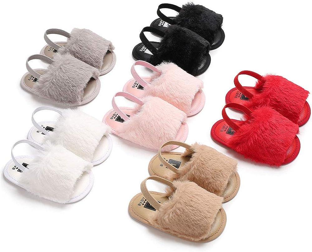 Fashion Infant Baby Shoes Flat Sole Breathable Plush Sandals Toddler Prewalker Comfortable Baby Shoes