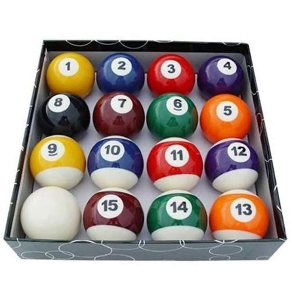Andensoner Set de Bolas de Billar, 16 Piezas / Set Bolas de Billar para Niñ os Conjunto de Bolas de Billar Conjunto de Bola de Juguete en Miniatura