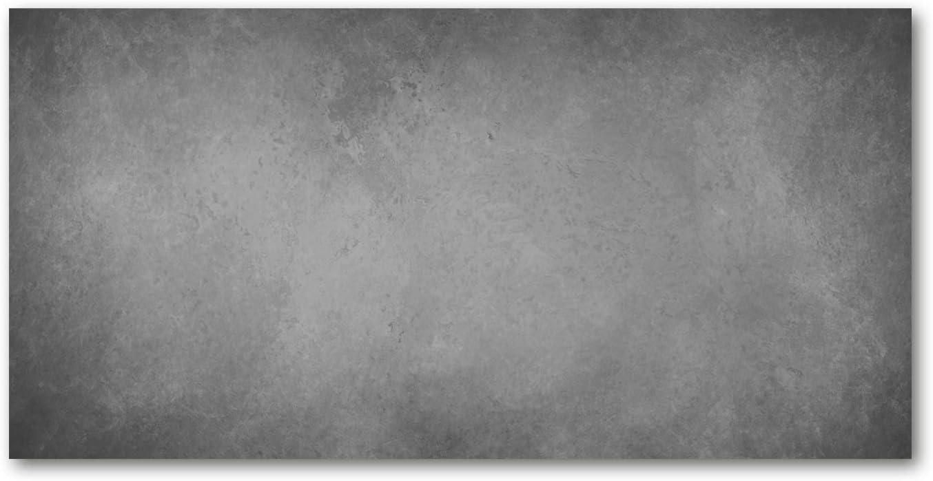 Gris Plan de Travail en Verre Tulup en Verre de s/écurit/é tremp/é Dosseret en Verre Murale Splash-Back Guard Fond De B/éton 100x50 cm Divers Cr/édence de Cuisine Fond de hotte Verre