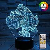 ZOKEA Night Light 3D lamp 7 Colors Changing Nightlight Smart Touch & Remote Control 3D Night Light Kids as Gifts Women Kids Girls Boys (Cute Dog)