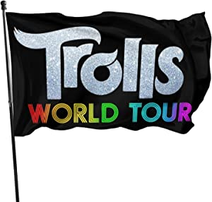 Wehoiweh Fashion TRO-Lls World Tour Garden Outdoor Decorative Flag 3'X 5 'Foot Durable Fade Resistant