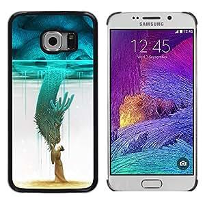 Exotic-Star ( Teal Monster Japan Hero Sky ) Fundas Cover Cubre Hard Case Cover para Samsung Galaxy S6 EDGE / SM-G925 / SM-G925A / SM-G925T / SM-G925F / SM-G925I