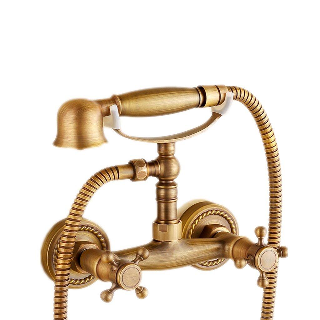 シャワー シャワーヘッドレトロ銅ホームバスルームコールドウォーターヒーターシンプルシャワーヘッド環境保護材料クリエイティブデザイン B07M7T1SQF