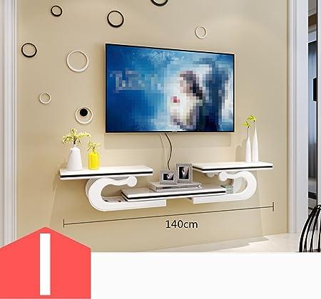 CSQ - Mueble de TV para Colgar en la Pared, Creativo Estante STB para Sala de Estar, TV de Fondo, Estante de Pared, Separador de Dormitorio, Marco Decorativo, Adornos de Juguete: Amazon.es: