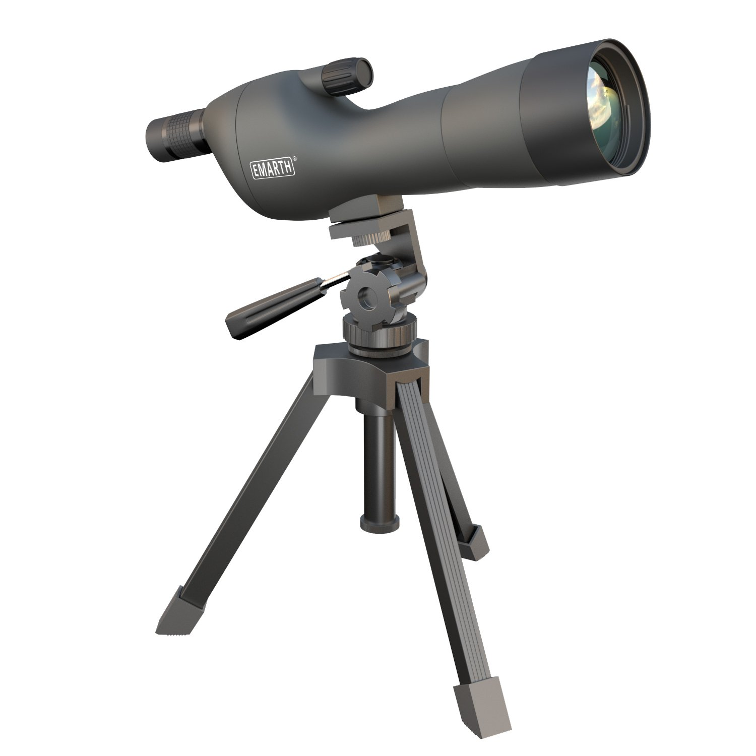 Emarth 20-60x60SE Straight Spotting Scope Telescope with Tripod, Optics Zoom 39-19m/1000m for Target Shooting/Hunting/Bird Watching/Outdoor Activities/Traveling (Army Green) by Emarth