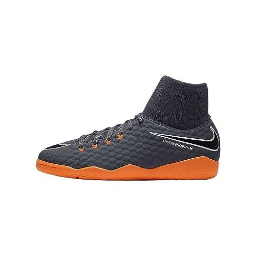 f2d664e68 NIKE Youth Hypervenom Phantomx 3 Academy DF Indoor Shoes [Dark Grey] (6Y)