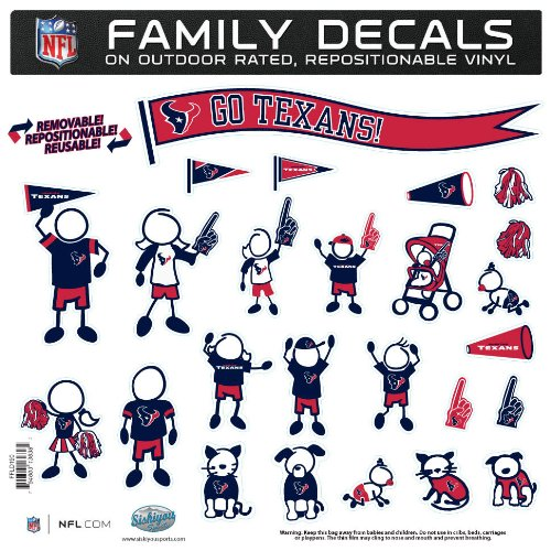NFL Houston Texans Large Family Decal Set