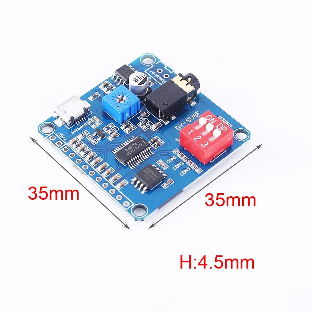 PEMENOL Voice Playback Module Music Player Voice prompts Voice Broadcast Device MP3 Trigger Amplifier Class D 5W 64MBit Flash for Arduino