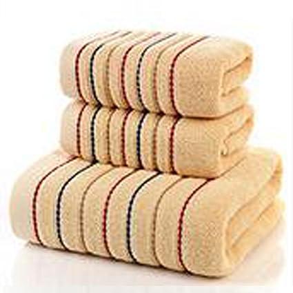 De secado rápido 3 piezas Algodón juego de toallas