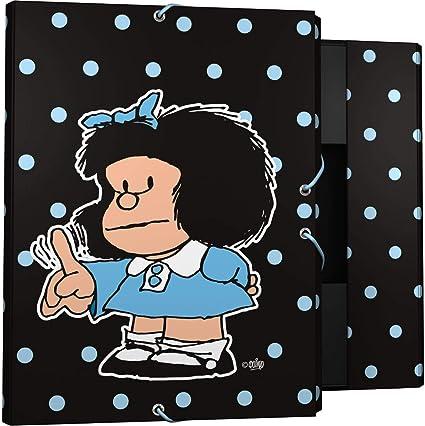 Grafoplás 82401972. Carpeta de 3 solapas Mafalda Lunares: Amazon.es: Oficina y papelería