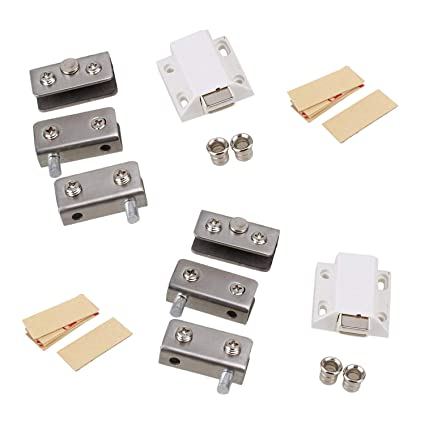 Rannb Single Suction Stainless Steel Door Glass Pivot Clamp Hinge For 5 8mm  Glass  Pack Of 2 Set     Amazon.com