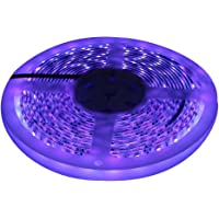 UV Led Light Strip 5M 3528SMD Waterproof Ultraviolet BlackLight UV Strip Light with Check Sterilization Function for Room, Kitchen Lighting, Party, Christmas Decor
