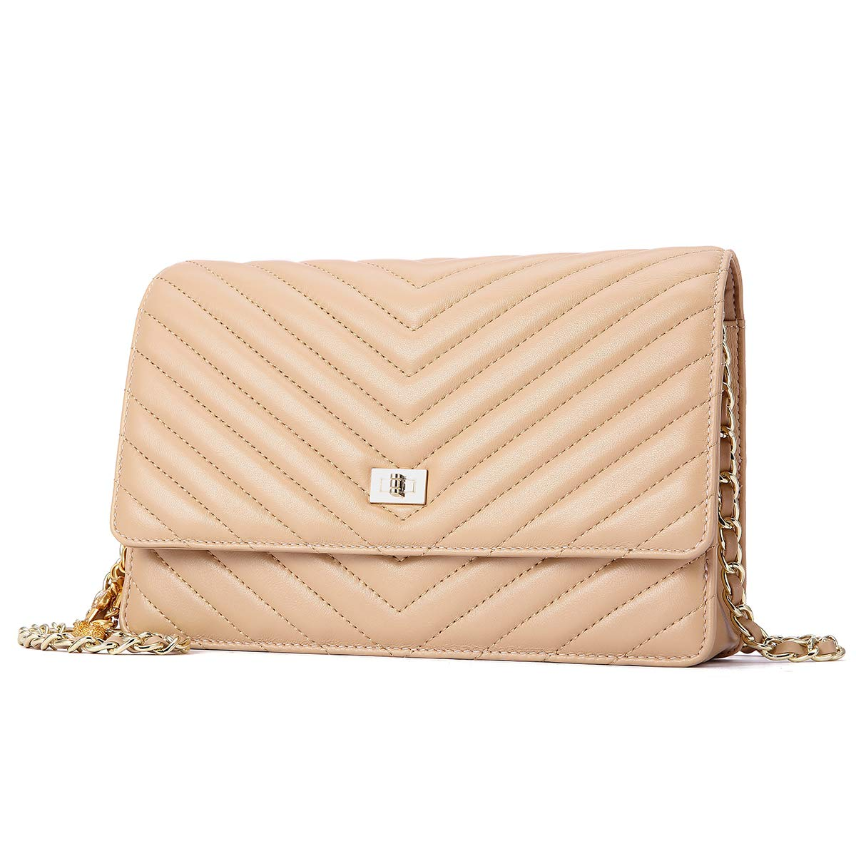 Neverout Shoulder Bags for Women Sheepskin Leather Thread Style Crossbody  Purse (NP2135) (apricot)  Handbags  Amazon.com 0477518dd61c9