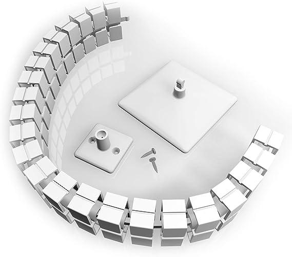Kabelführung Eckig Flexibel Für Schreibtisch Inkl Fußplatte Tischanbindung Und Schrauben Länge Ca 780 Mm Farbe Weiß Baumarkt