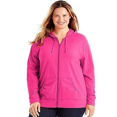 361682fec0c Just My Size Slub-Cotton Full-Zip Women s Hoodie at Amazon Women s ...