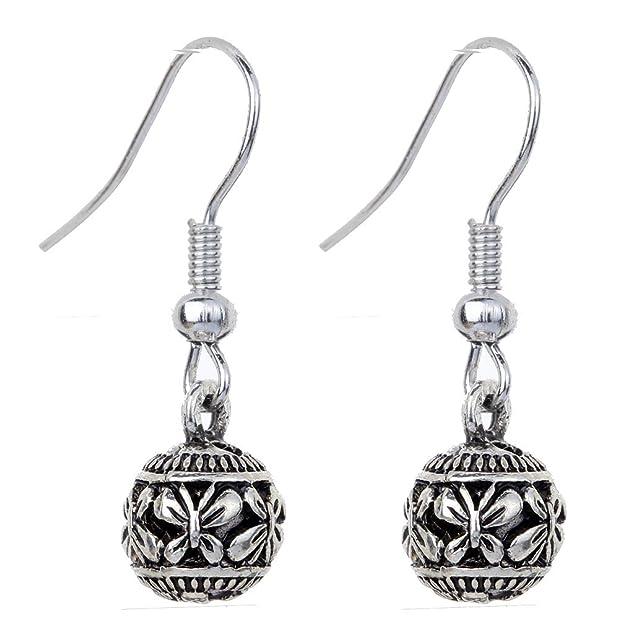 YAZILIND Tibetan Silver Plated Heart Shaped Hook Dangle Earrings Jewelry for Women reh0n