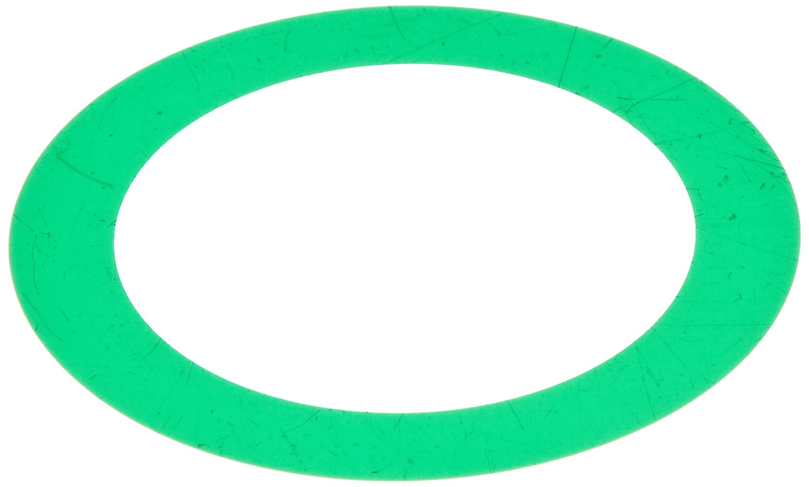 Polyester Round Shim, Green, 0.003'' Thickness, 2'' ID, 2-3/4'' OD (Pack of 10) by Small Parts