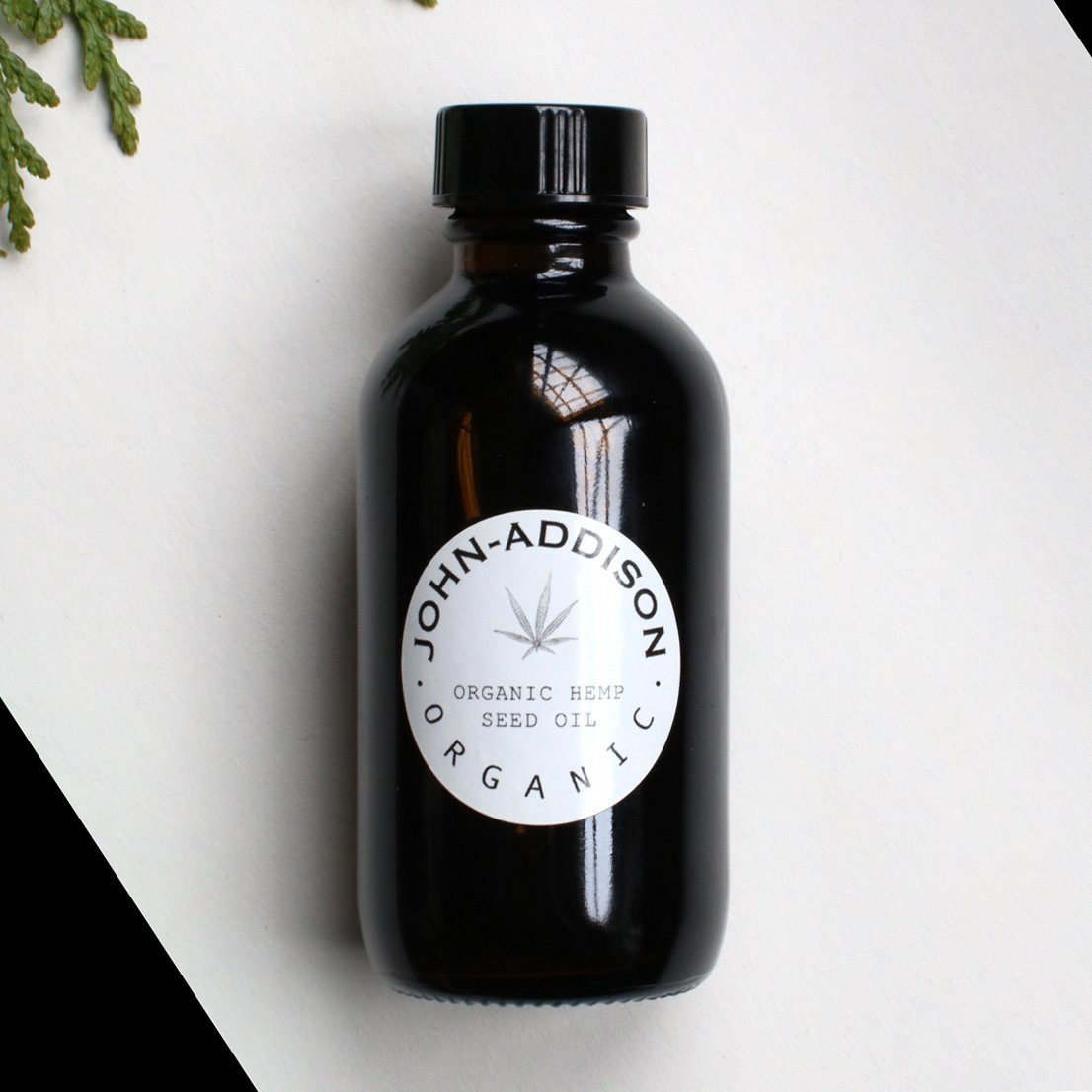 ORGANIC HEMP SEED OIL by JOHN ADDISON - Cold Press - Carrier Oil - For Face Body Hair - Treats Stretch Marks Dry Irritated or Ashy Looking Skin - Hydrates Moisturizes Softens Smooths Soothes - Add Essential Oils - Amber Glass Bottle With Dropper - 100ml