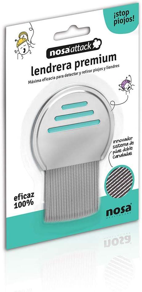 Nosaattack, Lendrera premium. Púas doble canaladas. 100% eficaz.: Amazon.es: Belleza