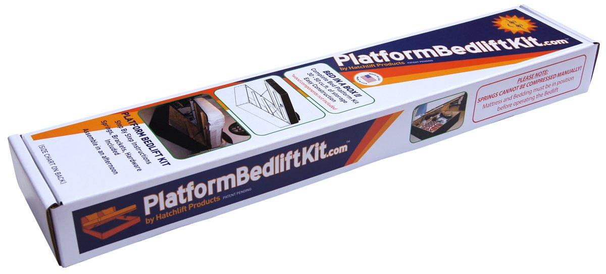 Platform Bedlift Kit (queen-heavy) DIY Under Bed Storage Kit by Hatchlift