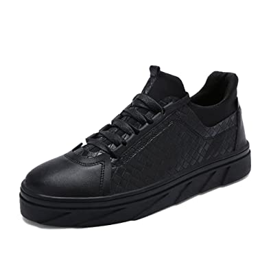 Shoes Mens Casual Shoes Lightweight Lace-up Shoes Comfort Sneakers Running Shoes (Color : Black Size : 44)