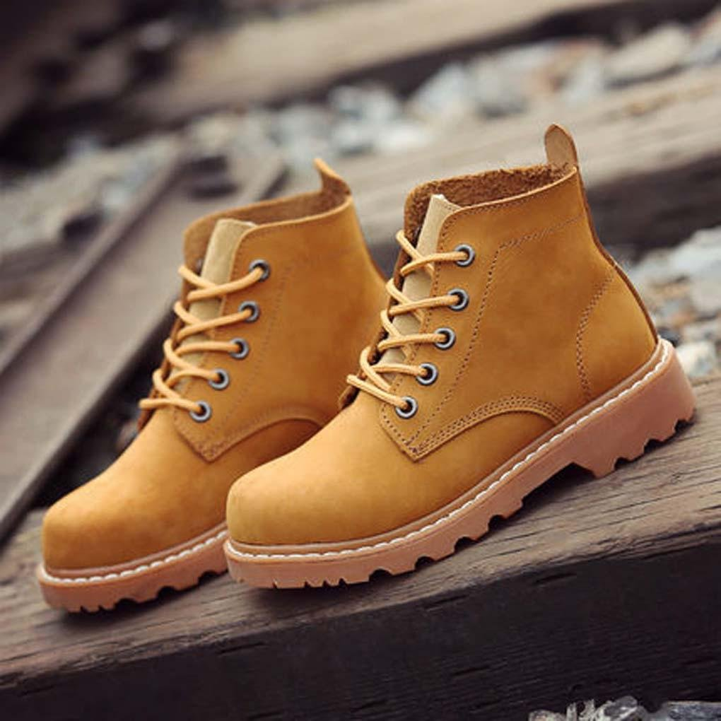 W&P New for fall/winter boots women high Joker brush off couples comfortable strap leather casual shoes