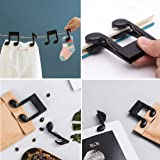 Clips,Paper Binder Bag Chip Clamps, Black Music