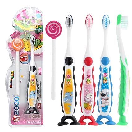 Comtervi - Cepillo de dientes para niños, cepillo de dientes extra suave, herramienta de