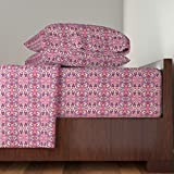 Roostery Abstract 4pc Sheet Set To India With Love by Edsel2084 King Sheet Set made with