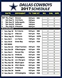 Dallas Cowboys NFL Football 2017 Schedule and Scores Refrigerator Magnet #508