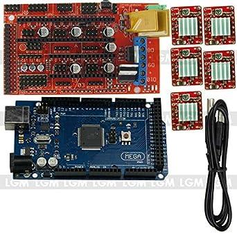 Kit RAMPS 1.4 para Impresora 3D + 5 Driver A4977 Mega 2560: Amazon ...