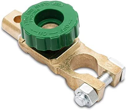 Universal Battery Disconnect Isolator Cut Off Switch Green Wheel